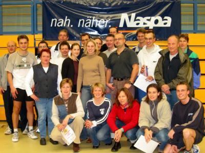 Die Sieger des 3. Naspa-Badminton-Challenge
